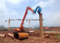 40-45 TON Excavator Vibro Hammer For Sheet Pile Driving 360 degrees rotatory