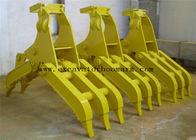 China Yellow Color Excavator Rotating Grapple For Rock Grab High Performance factory
