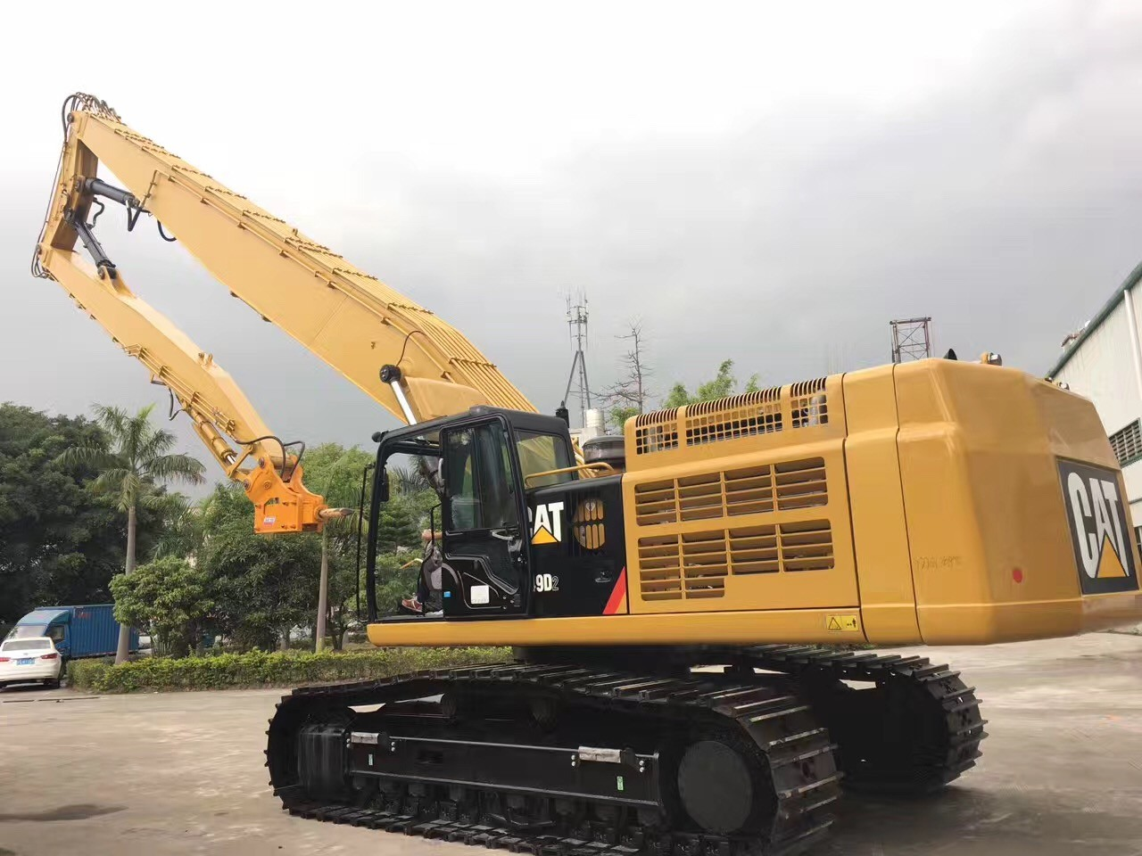 Excavator High Reach House Demolition Boom 24 Meter Q345b+Q550 Material Wear Resistance