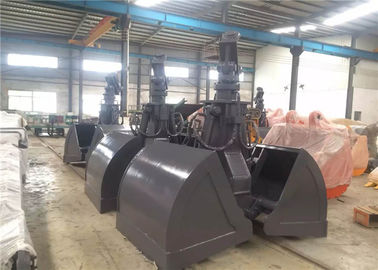 China Heavy Duty Excavator Grab Bucket , Clam Bucket For Excavator HARDOX+Q345 factory