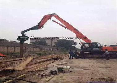 China 2400 RPM Excavator Vibro Hammer Sheet Pile Driver Attachment 300 BAR Pressure factory