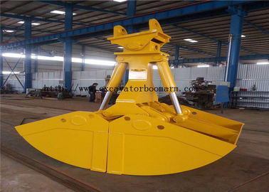 Durable Small Clamshell Bucket , Hydraulic Clamshell Bucket For Excavator