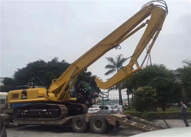 Long Boom EX450 Excavator Mounted Vibratory Hammer tube pile / H beams pile driving