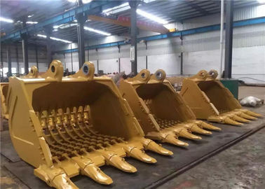 Durable Excavator Digging Bucket Digger Attachments For Hard Soil / Sand