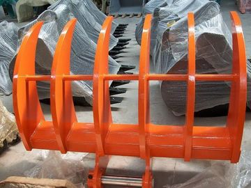 All Brand Excavator Land Clearing Rakes , Root Rake Bucket 700-2400m Width