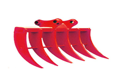 Red Cat385 Excavator Rock Rake , Root Rake For Backhoe Multi Functional