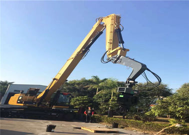 Q345 Material Excavator Vibro Hammer With Long Boom For Steel Plate Pile Driver
