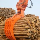 High Efficiency Rotating Log Grab , Hydraulic Rock Grab For Excavators OEM Available